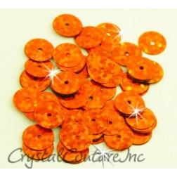 Orange Zodiac 8mm Sequin