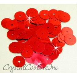 Red Metallic 8mm Sequin