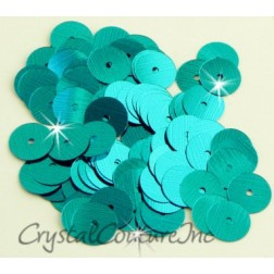 Teal Blue Metallic 8mm Sequin