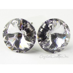 Smokey Mauve 15mm Rivoli Post Earrings made with SWAROVSKI ELEMENTS
