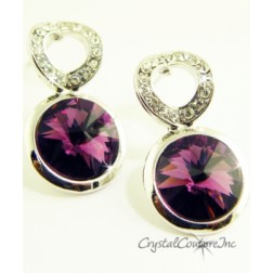 Amethyst Linked Earrings made with SWAROVSKI ELEMENTS
