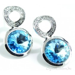 Aquamarine Linked Earrings made with SWAROVSKI ELEMENTS