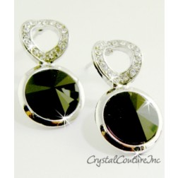 Jet Linked Earrings made with SWAROVSKI ELEMENTS