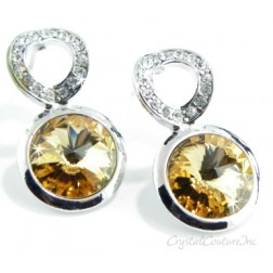 Lt Colorado Topaz Linked Earrings made with SWAROVSKI ELEMENTS