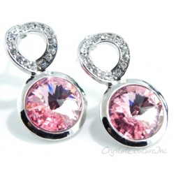 Rose Linked Earrings made with SWAROVSKI ELEMENTS