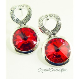 Lt Siam Linked Earrings made with SWAROVSKI ELEMENTS