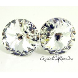 Crystal 15mm Rivoli Post Earrings made with SWAROVSKI ELEMENTS