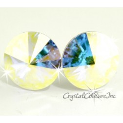 Crystal AB 15mm Rivoli Post Earrings made with SWAROVSKI ELEMENTS