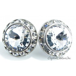 Crystal 20mm Rondelle CLIP Earrings made with SWAROVSKI ELEMENTS