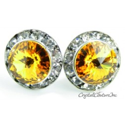Sunflower 15mm Rondelle Post Earrings made with SWAROVSKI ELEMENTS