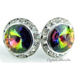 Vitrail Medium 15mm Rondelle Post Earrings made with SWAROVSKI ELEMENTS