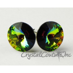Vitrail Medium 10mm Rivoli Post Earrings made with SWAROVSKI ELEMENTS